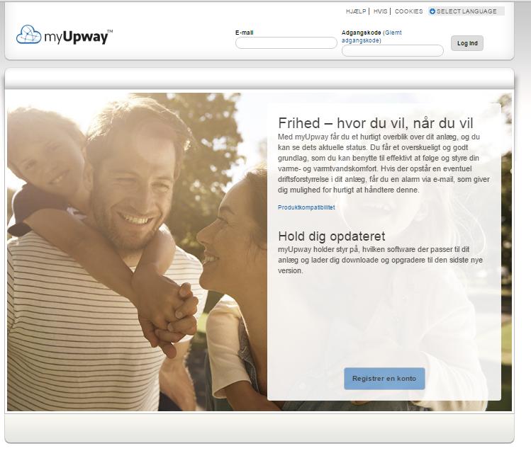 MyUpway webforside
