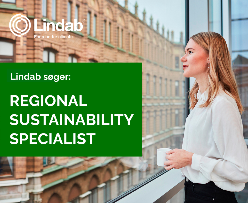 Lindab søger Regional Sustainability Specialist