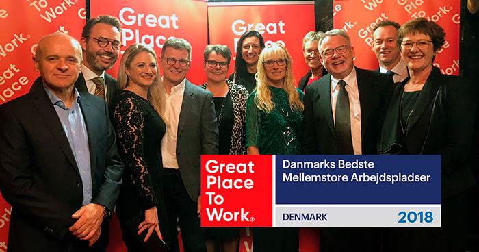 Lindab - ena af Danmarks Bedste Arbejdspladser 2018