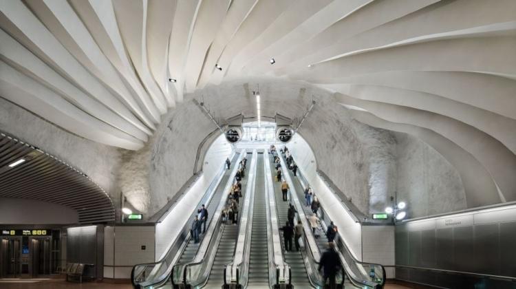 Et kig mod Stockholms kunstneriske metro